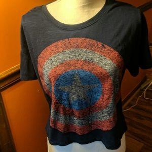 Marvel captain America crop top shirt xlarge C14